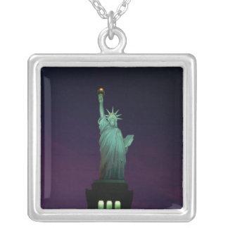 Statue de la liberté, New York, Etats-Unis 7 Pendentif Carré