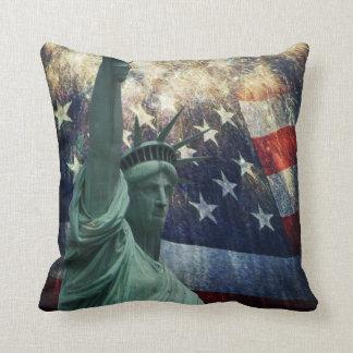 Statue de la liberté oreiller