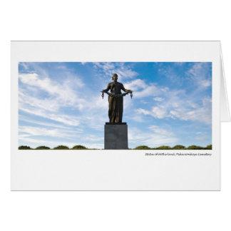 Statue de la mère patrie, cimetière de cartes
