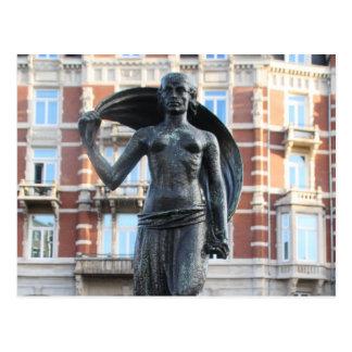 Statue de Madame Fortuna, Amsterdam Carte Postale