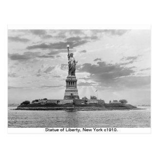 Statue de Manhattan vintage, New York de la Cartes Postales