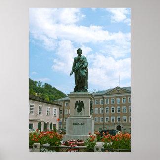 Statue de Mozart à Salzbourg Posters