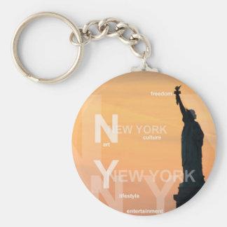 statue de New York City de la liberté ny Porte-clé Rond