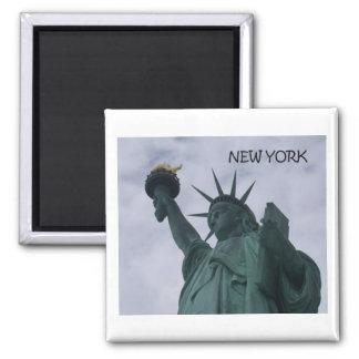 Statue de New York City de la liberté (St.K) Magnet Carré