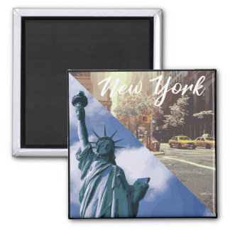 Statue de New York de taxi de liberté Aimant