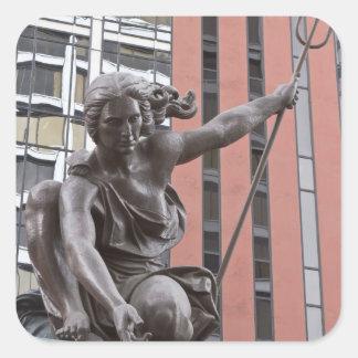 Statue de Portlandia, Portland, Orégon Sticker Carré