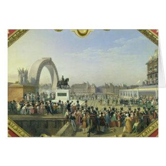 Statue de rétablissement de Henri IV sur Pont Carte De Vœux