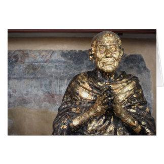 Statue décolorée et d'or de Bouddha Carte De Vœux