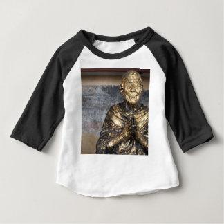 Statue décolorée et d'or de Bouddha T-shirt Pour Bébé