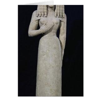 Statue femelle, connue sous le nom de déesse carte de vœux