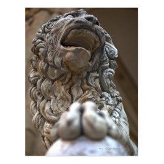 statue Florence Italie de lion Carte Postale