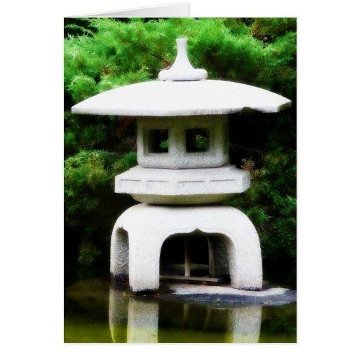 Statue japonaise de jardin de style de lanterne de carte for Statue japonaise pour jardin