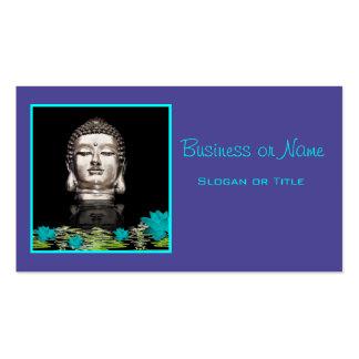 Statue principale argentée de Bouddha Carte De Visite Standard