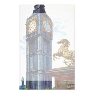 Statue vintage de cheval de tour d'horloge de Big Papier À Lettre Customisable