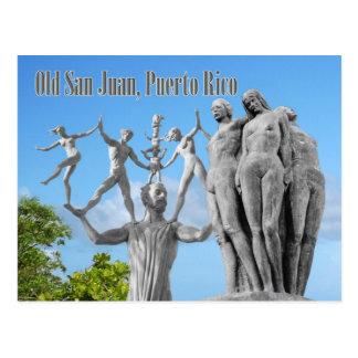 Statues à vieux San Juan, San Juan, Porto Rico Cartes Postales