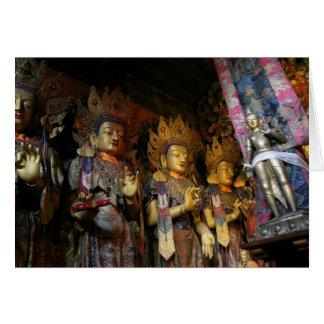 Statues bouddhistes 2, carte de voeux de monastère