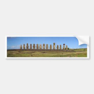 Statues d'île de Pâques Autocollant De Voiture