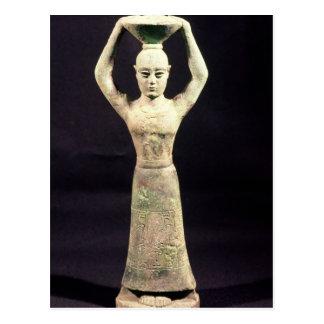 Statuette de porteur de offre avec votif carte postale