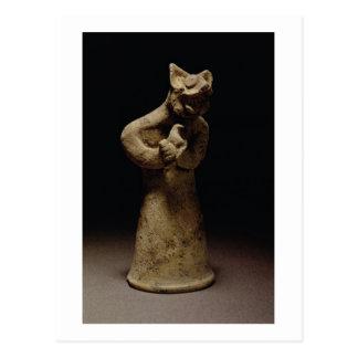 Statuette d'un démon Lion-Dirigé, Mésopotamie, c.5 Carte Postale