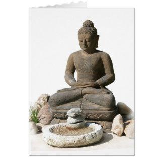 Statut de Bouddha (arrière - plan blanc) Carte De Vœux