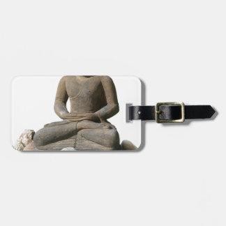 Statut de Bouddha (arrière - plan blanc) Étiquette À Bagage