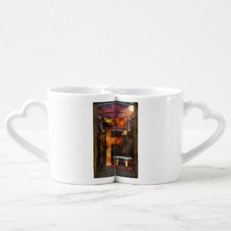 Steampunk - alphabet - F est pour la machine de Set Mugs Duo