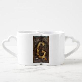 Steampunk - alphabet - G est pour des vitesses Mugs Amoureux