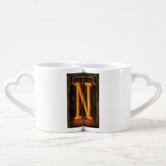 Steampunk - alphabet - N est pour Nixie Tasses Duo