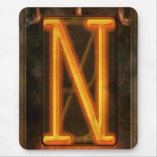 Steampunk - alphabet - N est pour Nixie Tapis De Souris