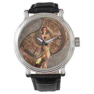 Steampunk, belles femmes de vapeur montres