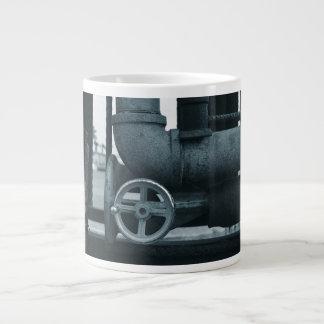 steampunk bleui de rouillement en métal de roue de mug jumbo