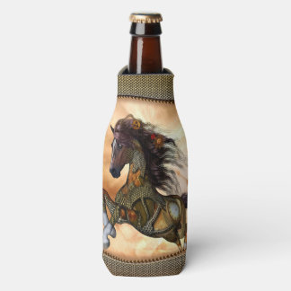 Steampunk, cheval impressionnant de steampunk rafraichisseur de bouteilles