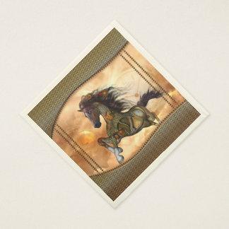 Steampunk, cheval impressionnant de steampunk serviette en papier