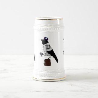 Steampunk Crow Chope À Bière