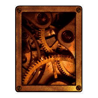 Steampunk embraye des cartes postales de rouages