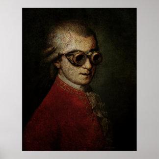 Steampunk géant Mozart Posters