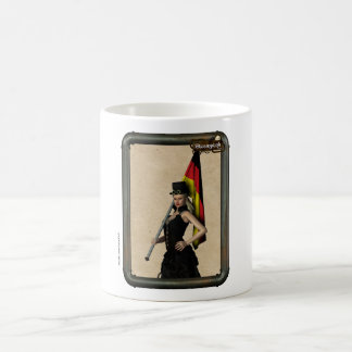 Steampunk Girl Germany Flag Coffee Cup
