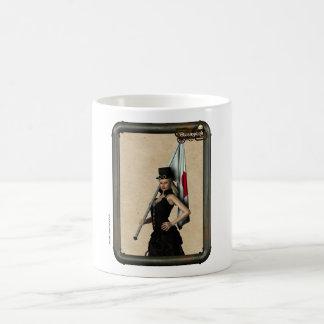 Steampunk Girl Japan Flag Coffee Cup Mug Blanc