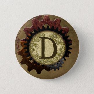 Steampunk grunge embraye la lettre D de monogramme Badges