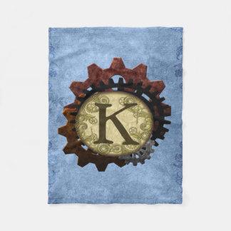 Steampunk grunge embraye la lettre K de monogramme Couverture Polaire
