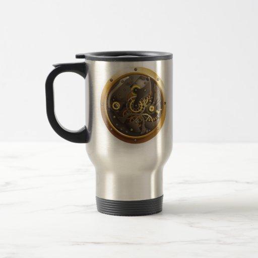 Steampunk horloge mug