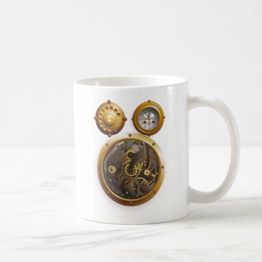 Steampunk horloge tasses