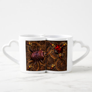 Steampunk - insecte - araignées bitsy d Itsy Set Mugs Duo