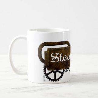 Steampunk Logo Coffee Cup - il Effiloche du café S Mug Blanc