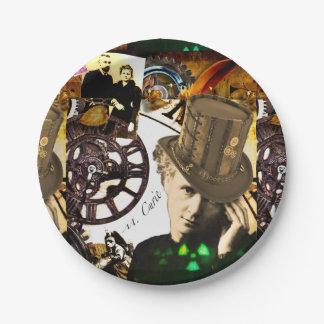 Steampunk Marie Curie Assiettes En Papier