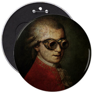 Steampunk Mozart Badge