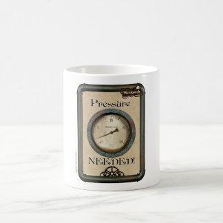 Steampunk Pressure Needed Coffee Cup Mug Blanc