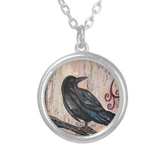 Steampunk Raven avec des horloges Collier