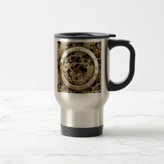 Steampunk synchronise les cadeaux mécaniques de mug de voyage en acier inoxydable