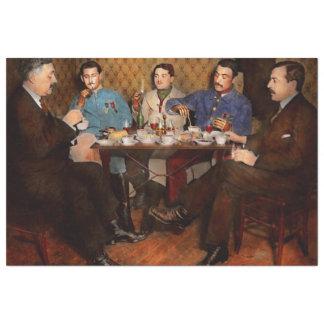 Steampunk - trois bioniques ayant le thé 1917 papier mousseline